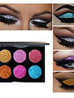 6 Palette di ombretti Gamma di colori dell'ombretto Trucco giornaliero Trucco per Halloween Trucco per feste Trucco occhi da gatta Trucco