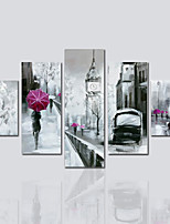 Canvas Print Five Panels Vertical Panoramic Print Wall Decor For Home Decoration