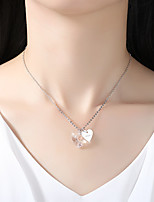 Women's Pendant Necklaces Crystal Heart Crystal Classic Elegant Jewelry For Wedding Party