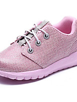 Girls' Shoes Fabric Spring Fall Comfort First Walkers Flats For Casual Black Light Grey Pink Light Blue