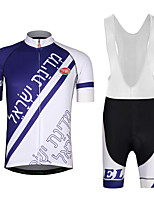 Cycling Jersey with Bib Shorts Men's Short Sleeves Bike Jersey Clothing Suits Lightweight Terylene LYCRA® Letter & Number Summer
