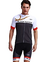 FUALRNY® Cycling Jersey with Shorts Men's Short Sleeves Bike Clothing Suits Breathability Coolmax LYCRA® National Flag Summer Cycling/Bike