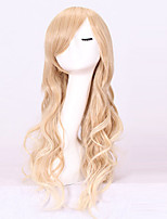 Women Synthetic Wig Capless Long Wavy Blonde With Bangs Cosplay Wig Costume Wig