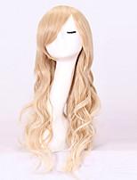 Femme Long Ondulé Blond Avec Frange Perruque de Cosplay Perruque Déguisement