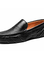 Men's Shoes Cowhide Spring Fall Comfort Loafers & Slip-Ons For Casual Yellow Black