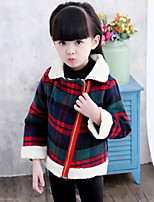 Girls' Plaid Suit & Blazer,Rayon Polyester Fall Winter Half Sleeves