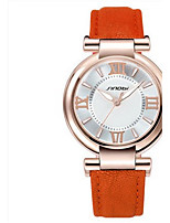 Women's Fashionable Watches Quartz Water Resistant / Water Proof PU Band Casual Black White Red Orange