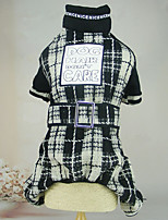 Dog Clothes/Jumpsuit Dog Clothes Casual/Daily Plaid/Check Black