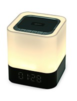 DY28 Estilo Mini Bluetooth Luzes Bluetooth 4.0 AUX 3.5mm USB Altofalante de Estante Branco