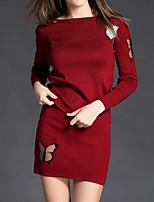 Chandail Jupe Costumes Femme,Imprimé Sortie Rétro Printemps Hiver Manches longues Col Arrondi Micro-élastique