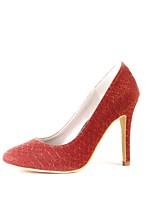 Feminino Sapatos Glitter Primavera Outono Plataforma Básica Sapatos De Casamento Salto Agulha Gliter com Brilho Para Casamento Festas &