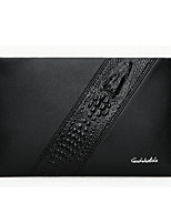 Men Bags All Seasons PU Clutch Zipper for Formal Office & Career Black