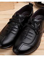 Da uomo Scarpe Pelle Primavera Autunno Suole leggere Sneakers Per Casual Nero Giallo