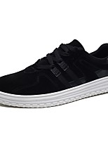 Men's Shoes PU Spring Fall Comfort Sneakers Lace-up For Casual Outdoor Black Black/White Black/Red
