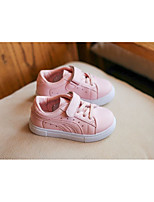 Girls' Shoes PU Spring Fall Comfort Sneakers For Casual Blushing Pink Black