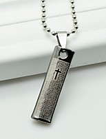 Men's Pendant Necklaces Cross Stainless Steel Hip-Hop Cross Jewelry For Daily Casual