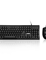 AJAZZ X1080 USB Wired Laptop PC Pro Office Keyboard Mouse Combo
