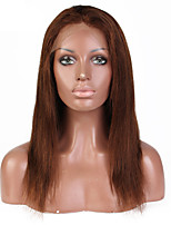 Women Human Hair Lace Wig Brazilian Remy Lace Front 130% Density With Baby Hair Straight Wig Dark Brown Short Medium Length Long Virgin
