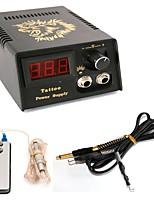 Alimentation Tattoo Machine Alimentation numérique pouvoir professionnel Clip Cord Interrupteur au pied Fiche d'alimentation