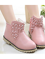 Girls' Shoes Leatherette Fall Winter Comfort Snow Boots Boots Booties/Ankle Boots For Casual Blushing Pink Red Black