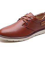 Men's Shoes PU Spring Fall Formal Shoes Comfort Light Soles Oxfords For Casual Blue Brown Black