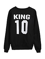 Men's Daily Sweatshirt Solid Round Neck Micro-elastic Cotton Long Sleeve Winter Fall