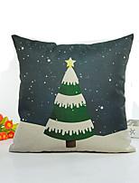 1 pcs Linen Pillow Cover,Botanical Style