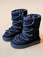 Girls' Shoes Cowhide Winter Snow Boots Boots Booties/Ankle Boots For Casual Camel Gray Dark Blue