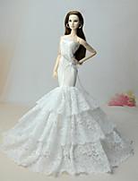 Vestidos Lenços de Quadril para Dança do Ventre Vestidos Para Boneca Barbie Vestido Para Menina de Boneca de Brinquedo
