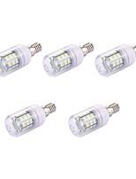 5pcs 2W LED Corn Lights T 30 leds SMD 5730 Warm White 150lm 3000-3500K 110-120V