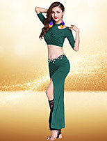 Belly Dance Outfits Women's Performance Modal Half Sleeve Dropped Skirts Tops