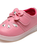 Girls' Shoes PU Spring Fall Comfort Sneakers For Casual Blushing Pink Peach White