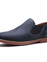 Men's Shoes Synthetic Microfiber PU Spring Fall Comfort Loafers & Slip-Ons For Casual Dark Brown Light Brown Dark Blue