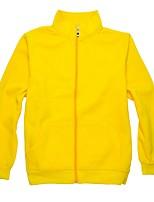 Unisex Hiking Fleece Jacket Outdoor Keep Warm Winter Fleece Jacket Full Length Visible Zipper for Running/Jogging Camping / Hiking Casual