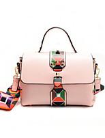 Women Bags All Seasons PU Tote Zipper for Casual White Black Blushing Pink
