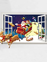Animales Navidad Personas Pegatinas de pared Calcomanías 3D para Pared Calcomanías Decorativas de Pared,Vinilo Material Decoración