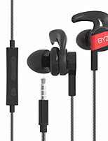 BYZ SE1200 In Ear Wired Headphones Electrostatic Plastic Mobile Phone Earphone Noise-isolating with Microphone with Volume Control Headset