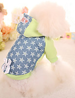 Dog Hoodie Dog Clothes Casual/Daily Stars Green Blushing Pink