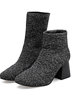 Women's Shoes Knit Winter Fashion Boots Boots Booties/Ankle Boots For Casual Black Blue
