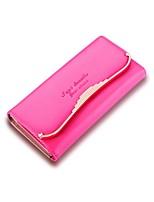 Women Bags All Seasons PU Wallet Zipper for Shopping Casual Blushing Pink Yellow Fuchsia