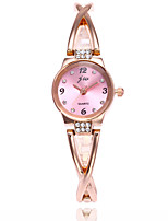 Women's Fashion Watch Bracelet Watch Quartz Alloy Band Silver Rose Gold