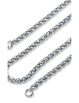 Men's Women's Chain Necklaces Stainless Steel Basic Jewelry For Evening Party Formal