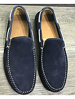 Men's Shoes Cowhide Spring Fall Comfort Loafers & Slip-Ons For Casual Blue Gray Black
