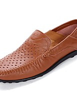 Men's Shoes Rubber Spring Fall Moccasin Oxfords For Outdoor Dark Brown Light Brown Black