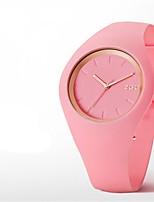 Mulheres Relógio de Moda Quartzo Silicone Banda Preta Branco Azul Verde Rosa Roxa Rose
