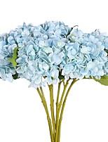 2 Филиал Полиэстер Гортензии Букеты на стол Искусственные Цветы