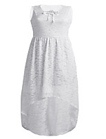 Women's Plus Size Casual/Daily Sexy Simple Lace Dress,Print Color Block V Neck Full-Length Sleeveless Polyester Spring Summer Mid Rise
