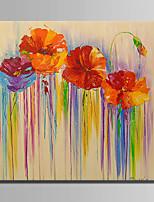 Pintados à mão Floral/Botânico Abstracto 1 Painel Tela Pintura a Óleo For Decoração para casa