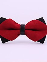 Men's Rayon Cotton Blend Bow Tie,Pattern Solid All Seasons