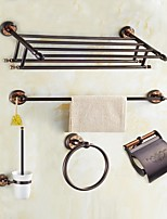 Bathroom Accessory Set Rectangle 3 Wall Mounted 60 32